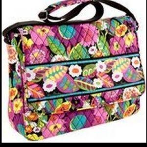Vera Bradley Messenger Bag in Va Va Voom